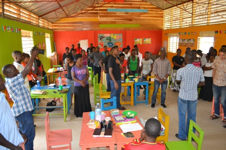 Our teachers during their Raising Voices workshop.