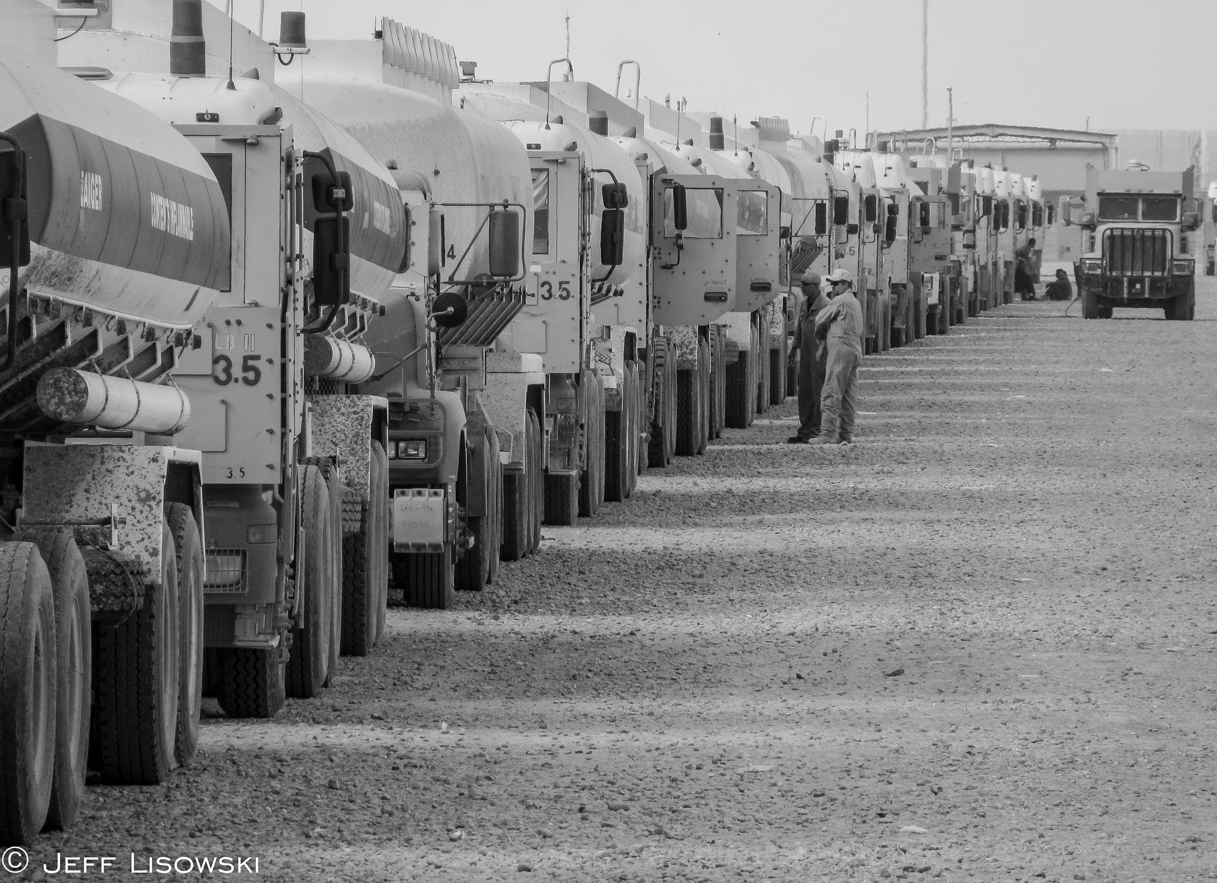 One of the last fuel convoys to push out of Tallil northbound for Cedar and Scania.