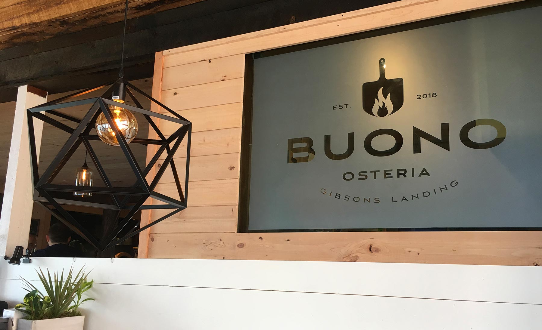 Frosted vinyl at Buono.