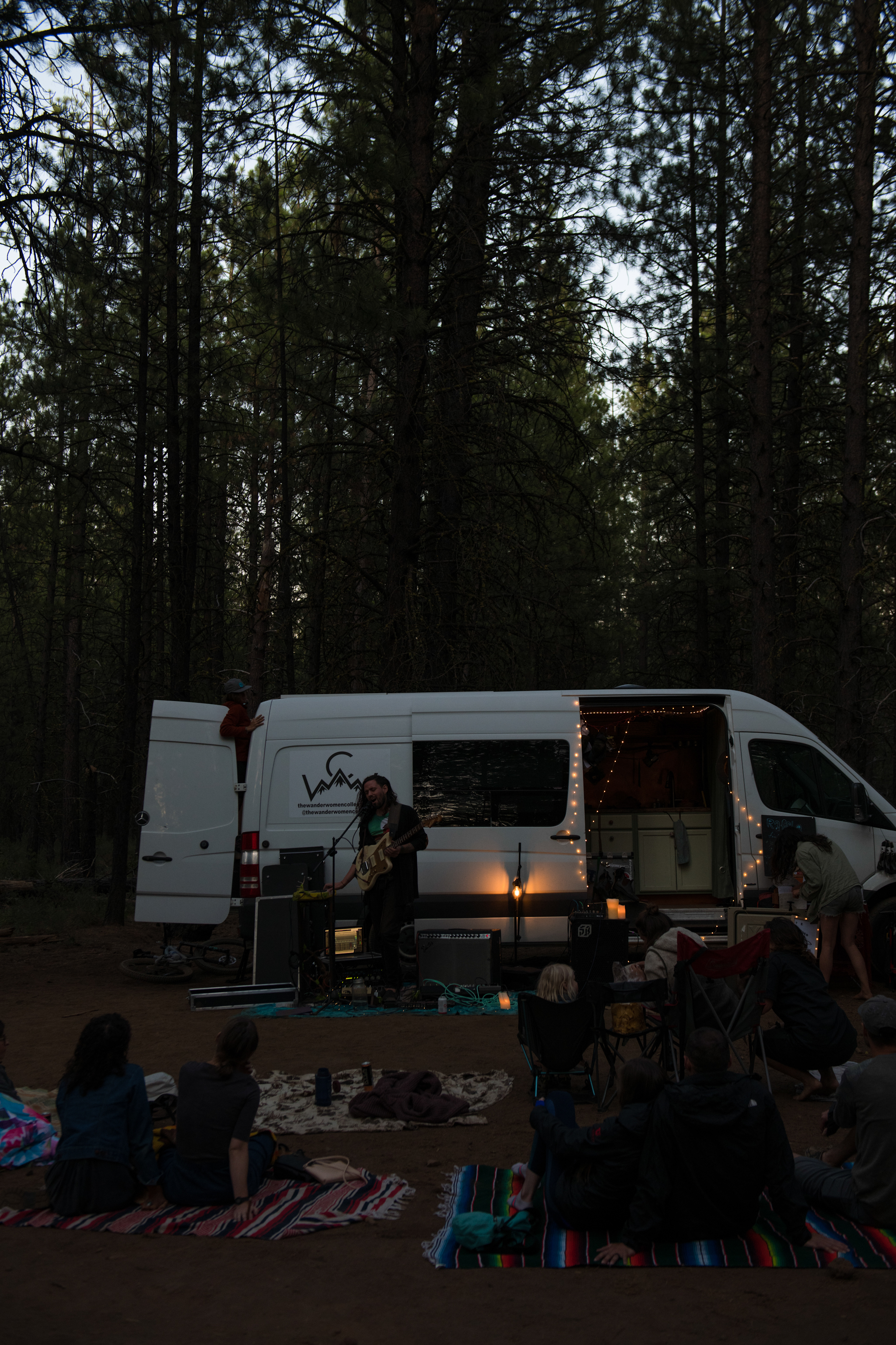 This Island Earth 's forest pop-up concert near our campsite on July 28.