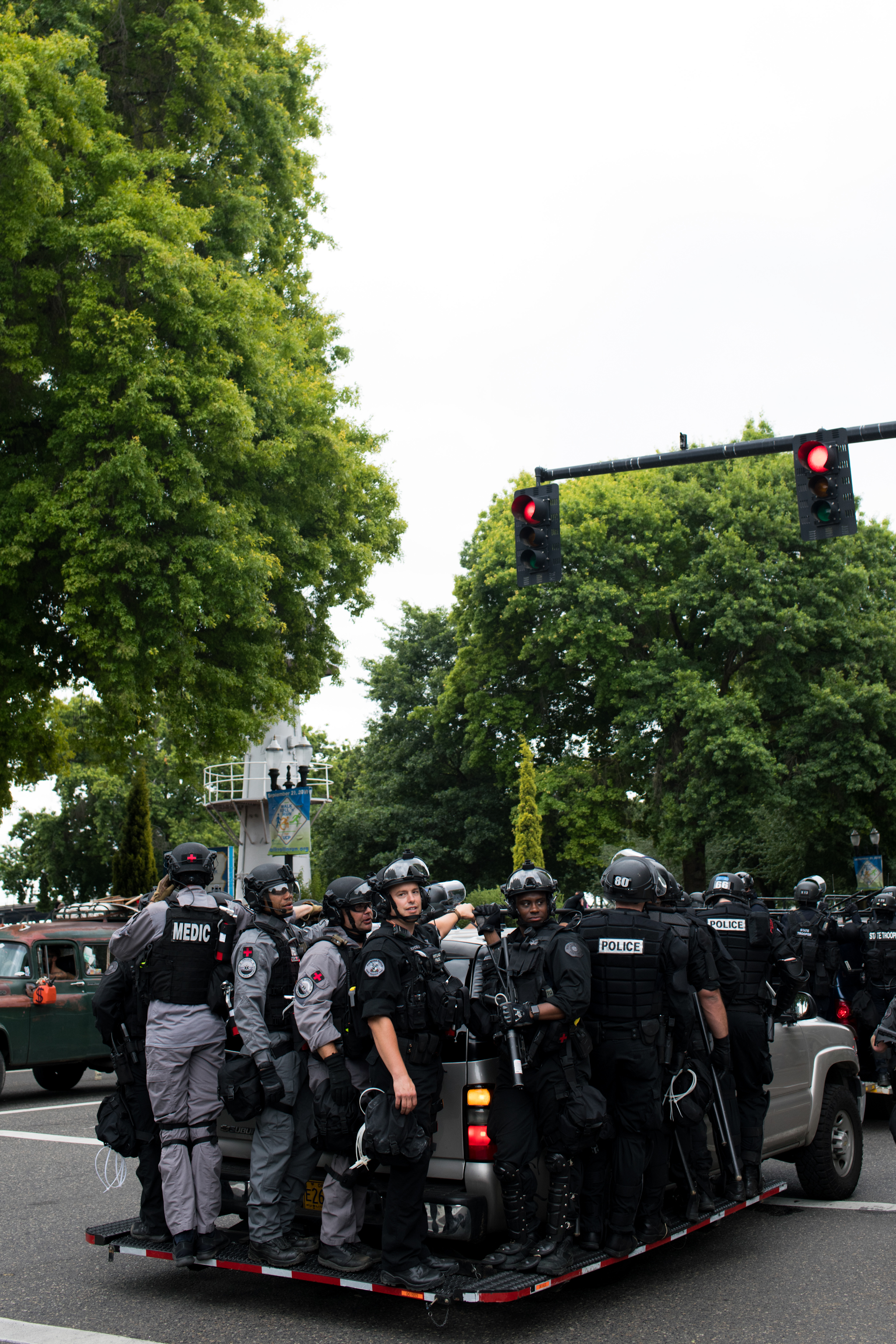 Scenes from the Portland Rally on August 17