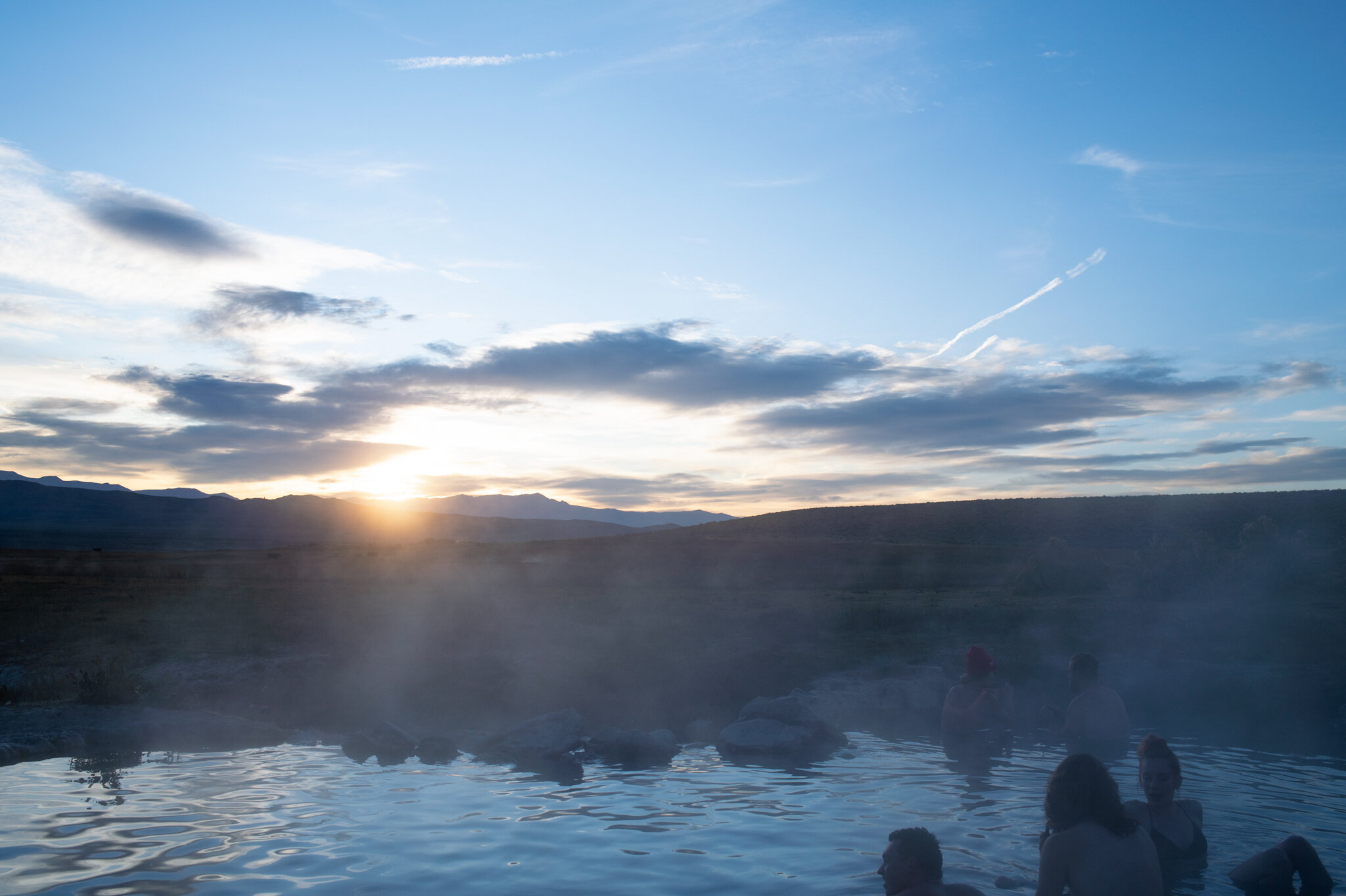 Wild Willy's Hot Springs at sunrise