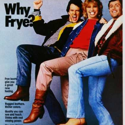 The Frye Company - is the oldest continuously operated shoe company in the United States! Since 1863, Frye has designed custom boots for stars like Liza Minnelli, Barbra Streisand, Bing Crosby, and First Lady Jackie Kennedy.