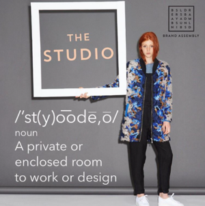 The first level that we have is the Studio which is a private studio that has the ability to open during market times - they're all glass windows so you can kind of see in, but if you have to have a private conversation it's the perfect set-up. It allows for brands to have multiple people in one space and can be more of a working space too. We have people using it as a showroom, a workspace and even a design studio.