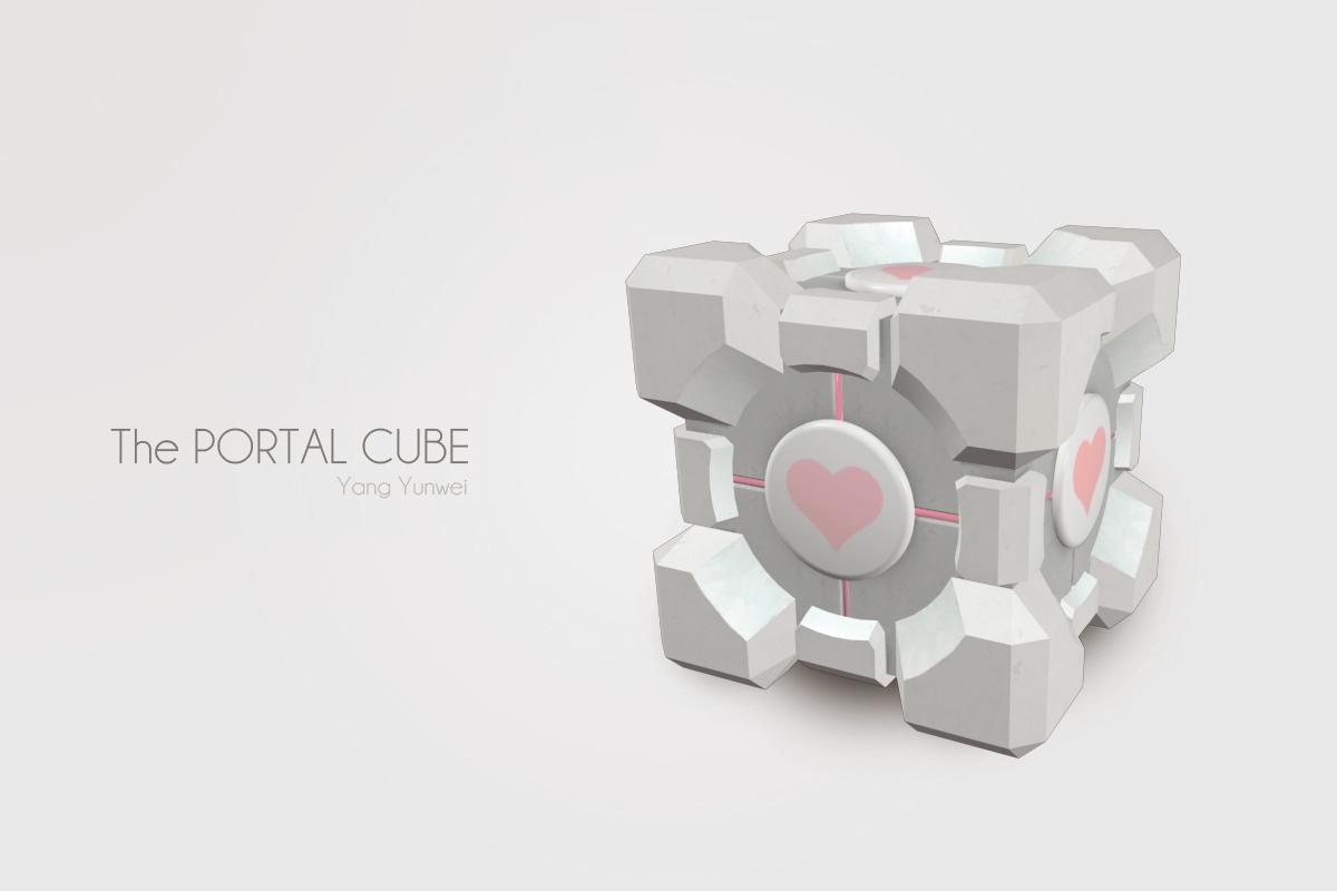 3D Model - Portal Cube