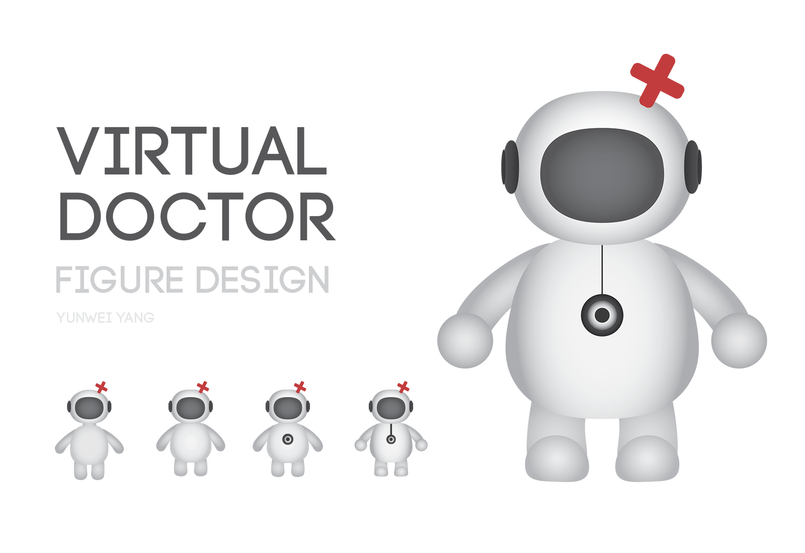 Figure design for an app called Virtual Doctor
