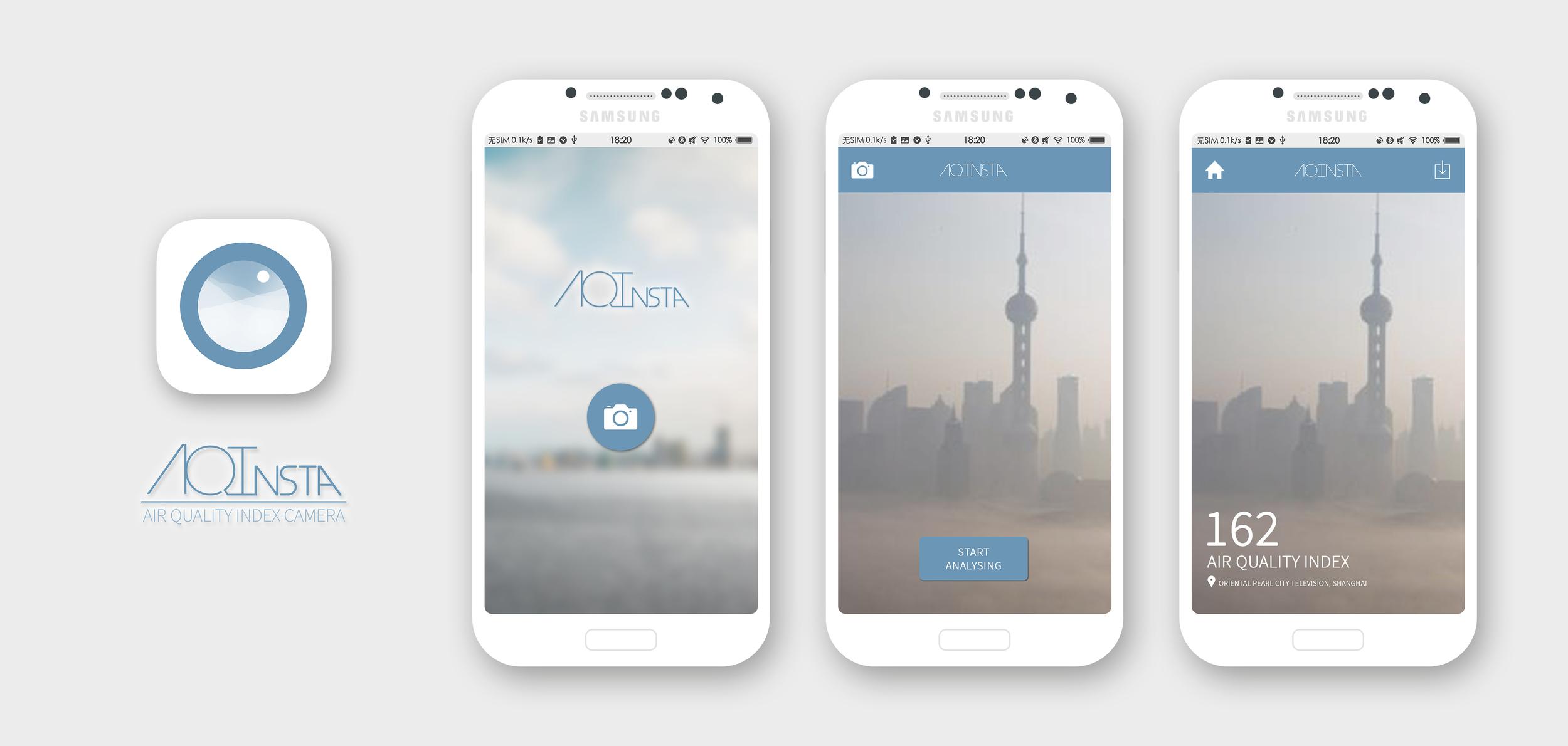I designed the UI for an air quality index camera application.