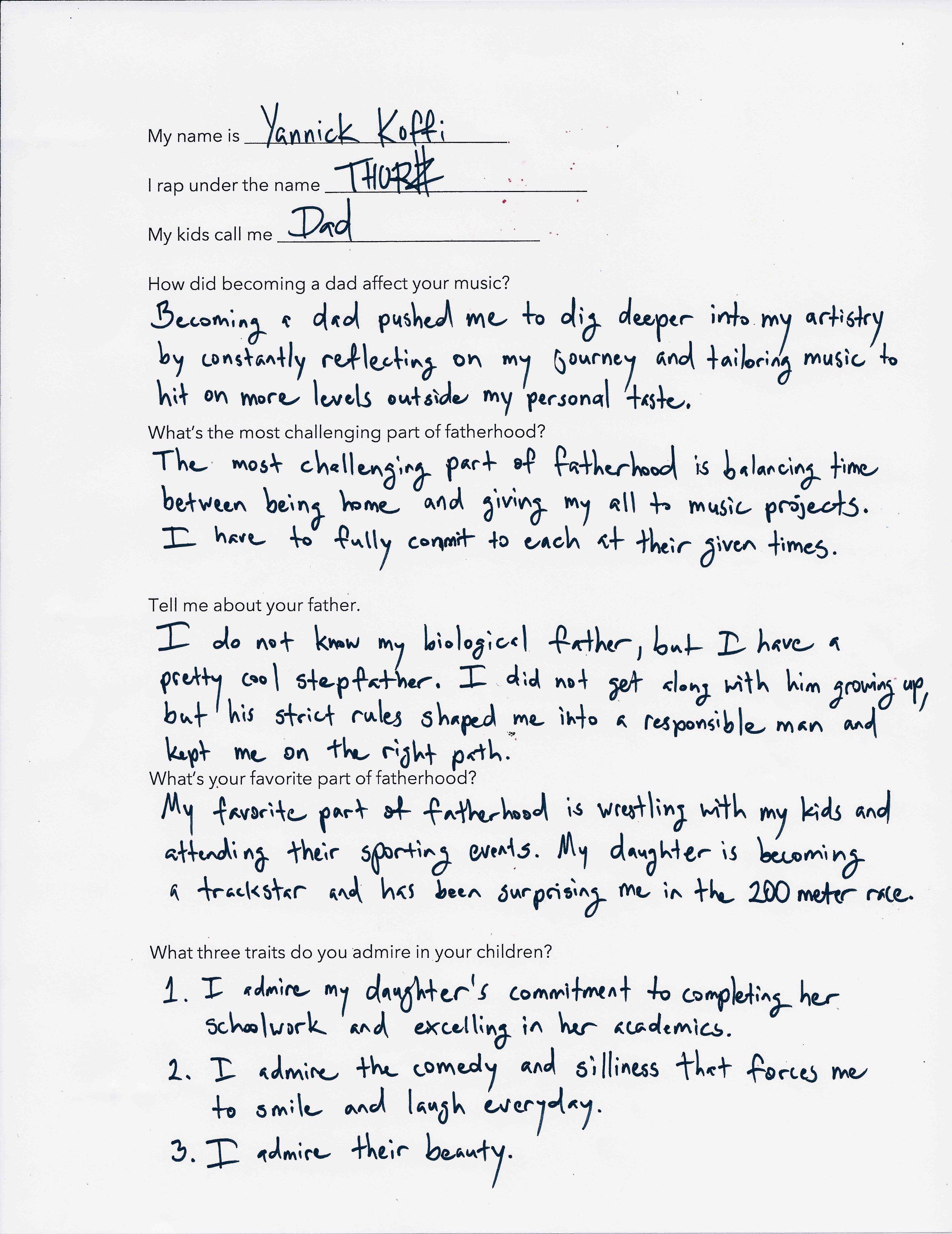 Thurz's Questionnaire