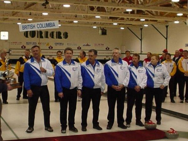 2004 - Thunder Bay.  B.C. Todd Leighton, Alf Cranfield, Wayne Adams, Bruce Watkins.