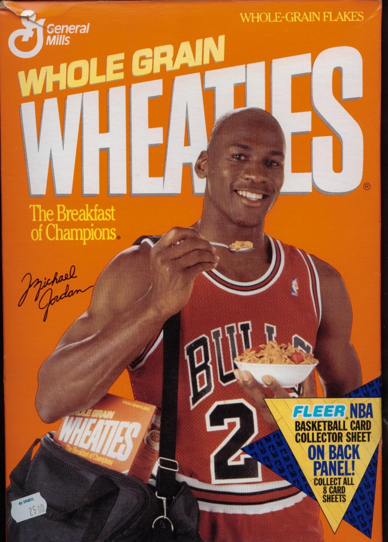 How could you not eat breakfast when there's Michael Jordan and the words BREAKFAST OF CHAMPIONS on the same box.