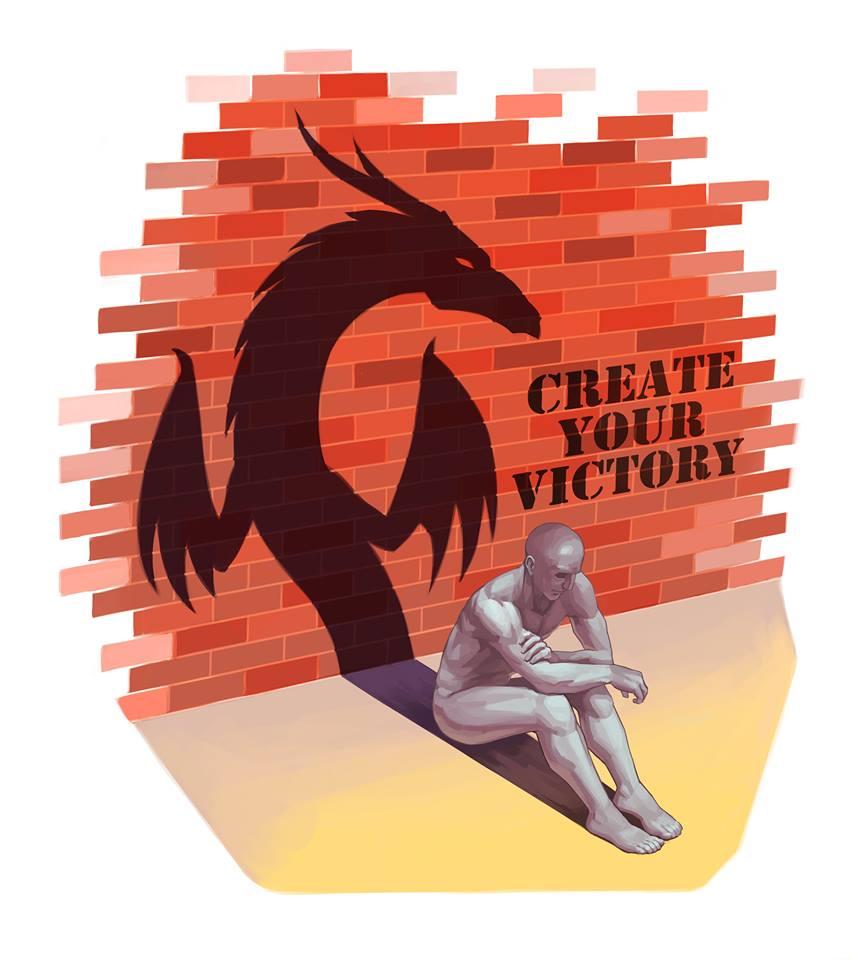 Victory Within, Creavinci © Illustration by Mischa Kavish ( www.mischakavishart.com )