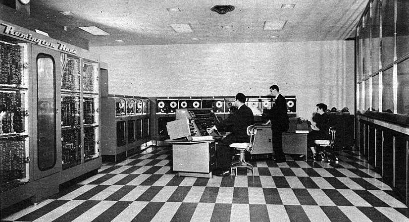 Photo by Franklin Life Insurance Company as part of the Report  Department of the Army, Ballistic Research Laboratories — Maryland, A third survey of domestic electronic digital computing systems, Report No 1115, 1961, The UNIVAC II