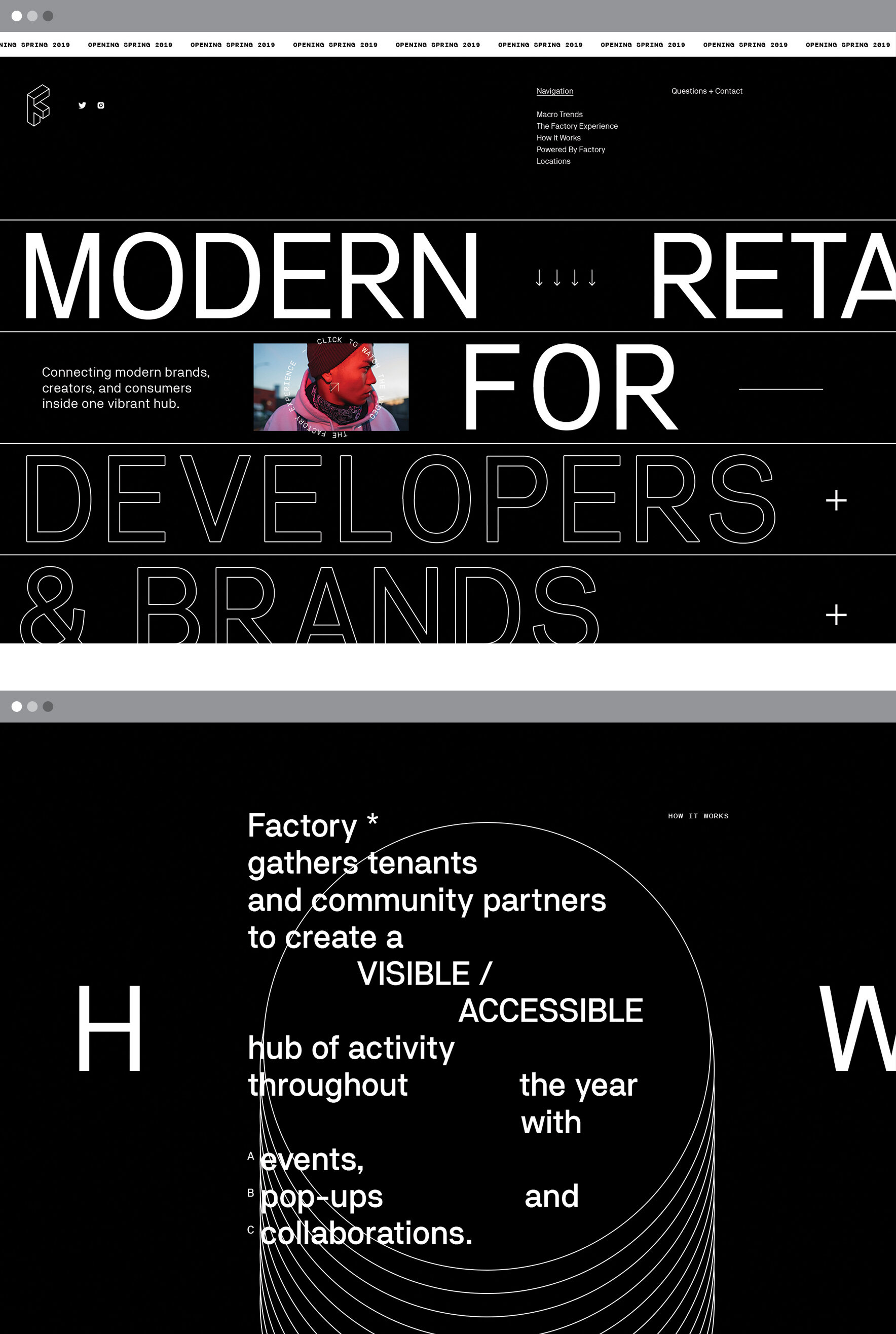 Factory, Website (2018) // makespace.