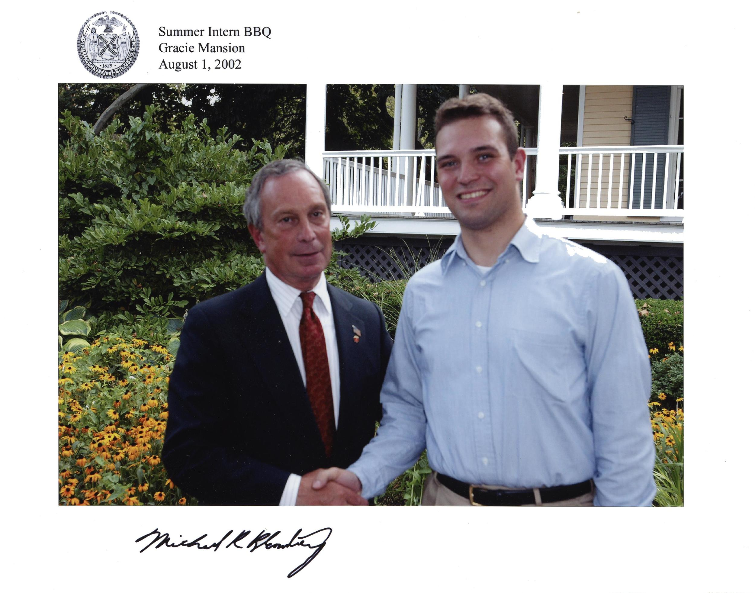 ASSISTED MAYOR BLOOMBERG