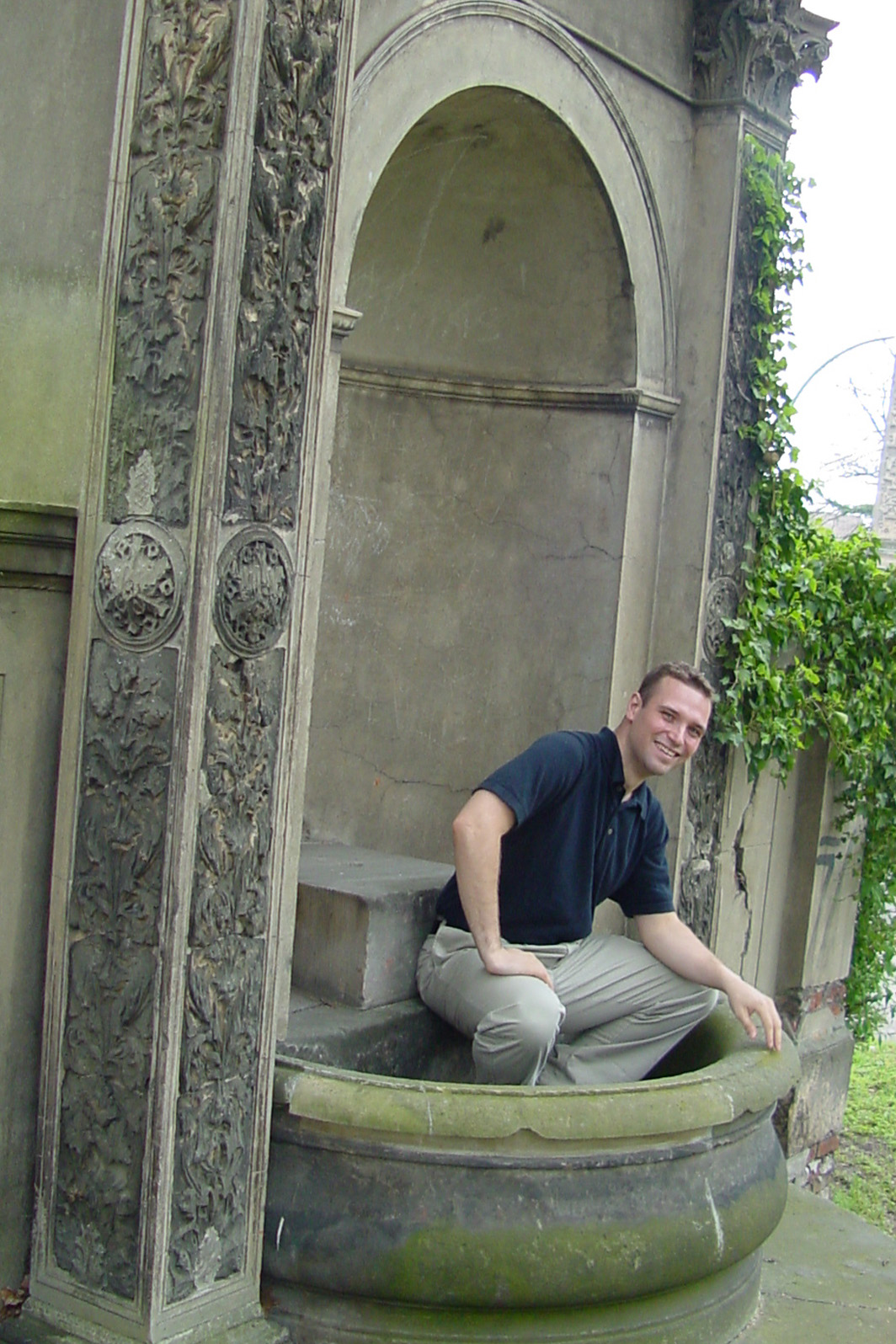 INSPECTED THE FOUNTAIN AT POTSDAM