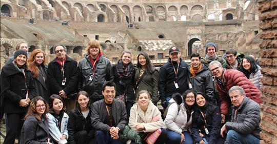 Dr. Ricardo Dello Buono with Rome group.