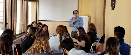 Students not only learned through in-class lectures, but explored the city through various on-site visits and excursions. DR. DELLO BUONO / COURTESY