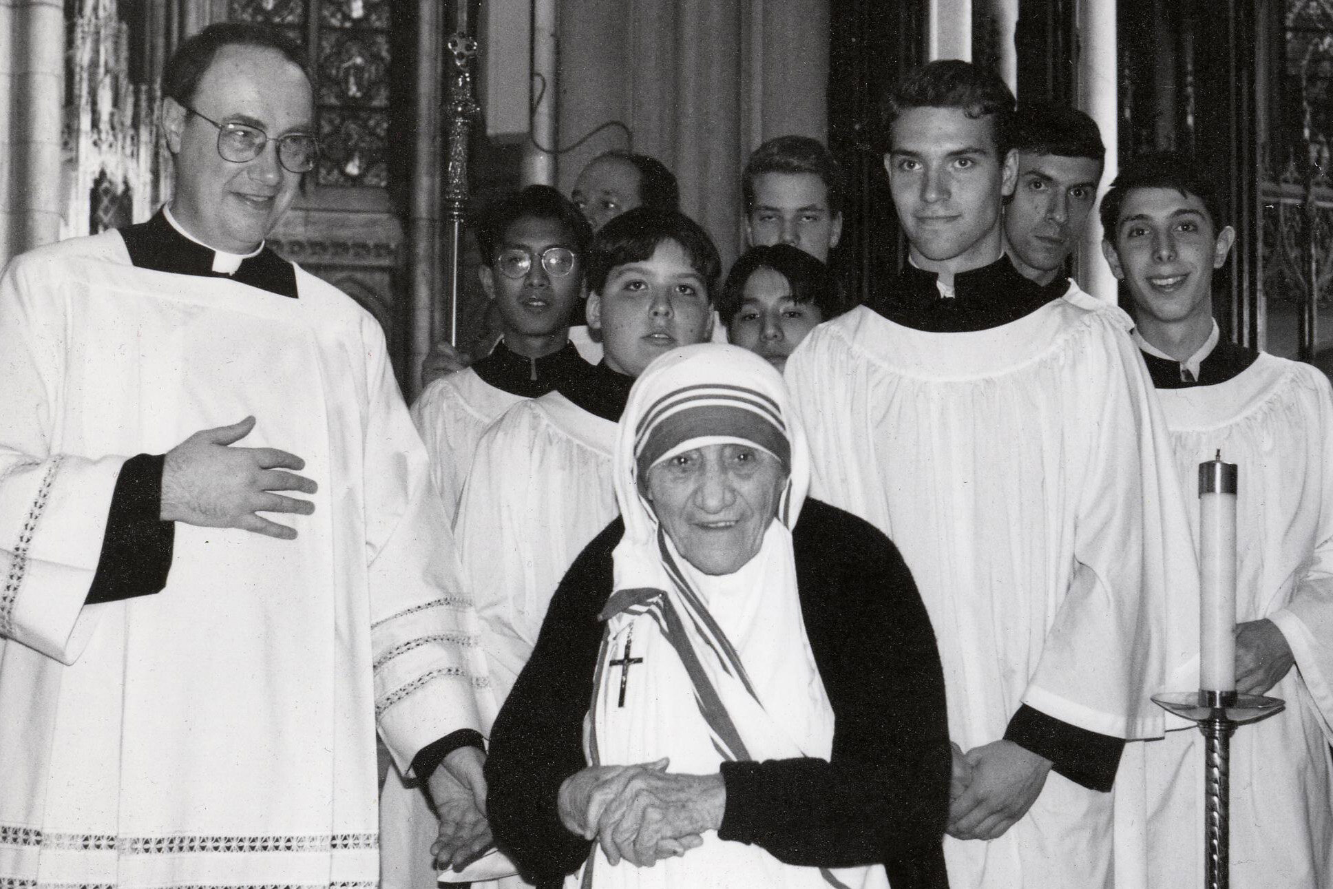 1995c;St Patrick's; Mother Theresa, JH cropped; 5393.jpg