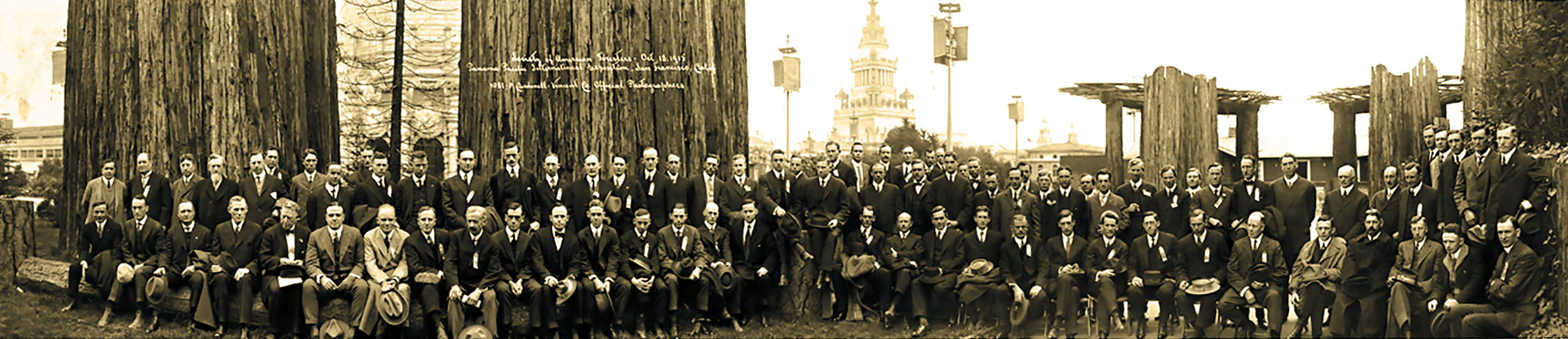 Annual meeting of The Society of American Foresters, Oct 18, 1915. Panama Pacific International Exposition, San Francisco. By P. Cardinell-Vincent Co. Official Photographers. Courtesy of Library of Congress Manuscript Division, Gifford Pinchot Collection.