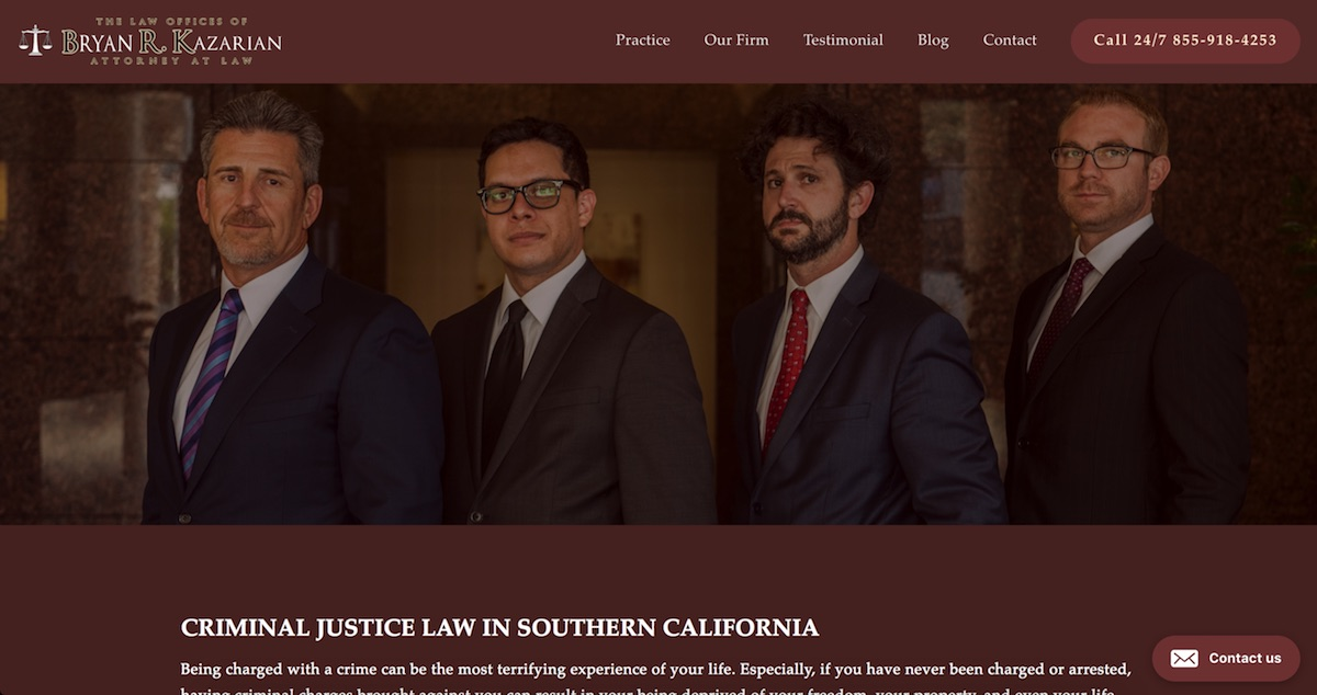 The Law Offices of Bryan Kazarian - www.kazarianatlaw.comPROJECTWeb Design