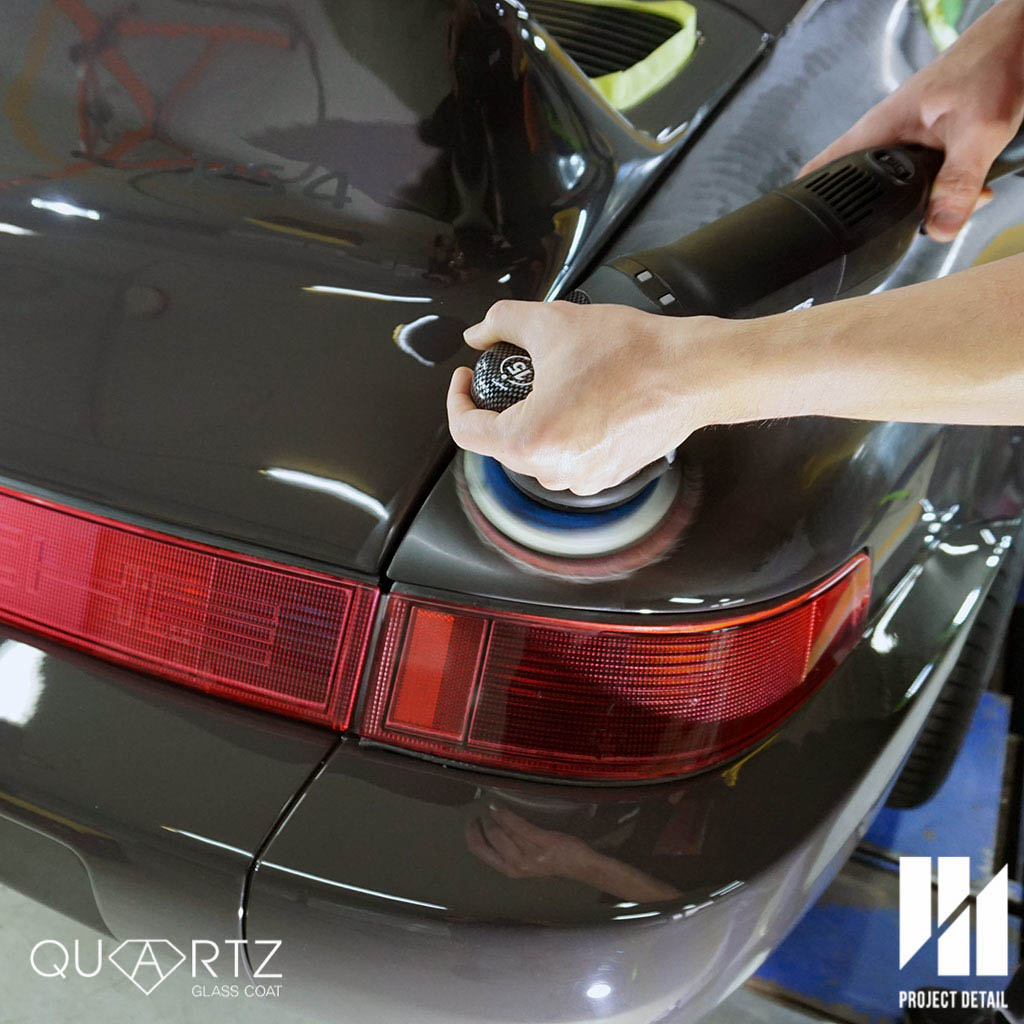Using Rupes Italian Polishers, paintwork is polished to a high gloss.