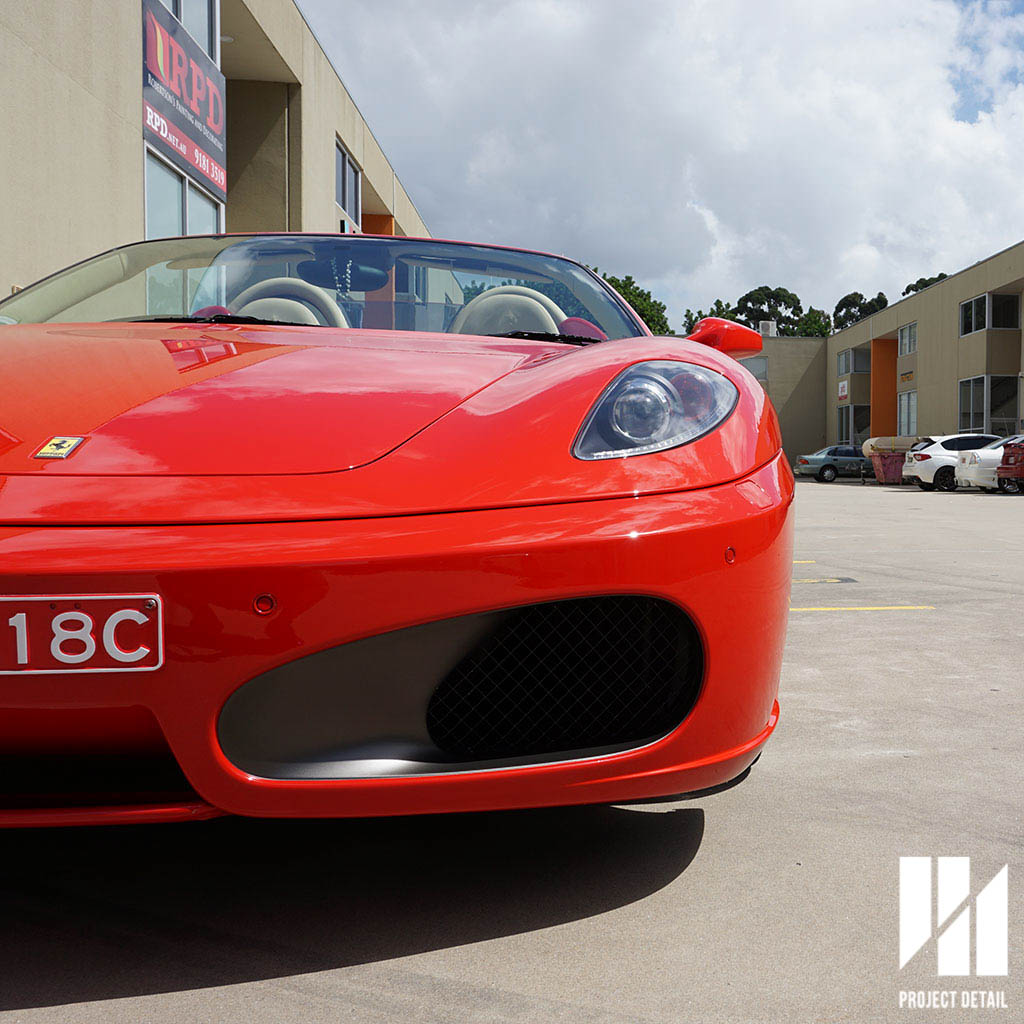The finished result on this Ferrari F430 in Rossa Corsa was superb.