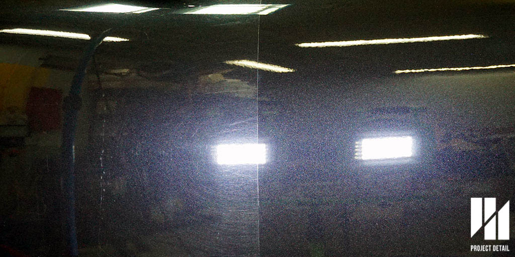50/50 shot - Passenger side door. The left side original & the right side is after paint correction.