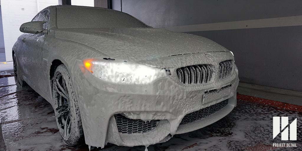 BMW M4 Snow Foam as Pre-wash, part of our 21-Stage Wash and Decontamination