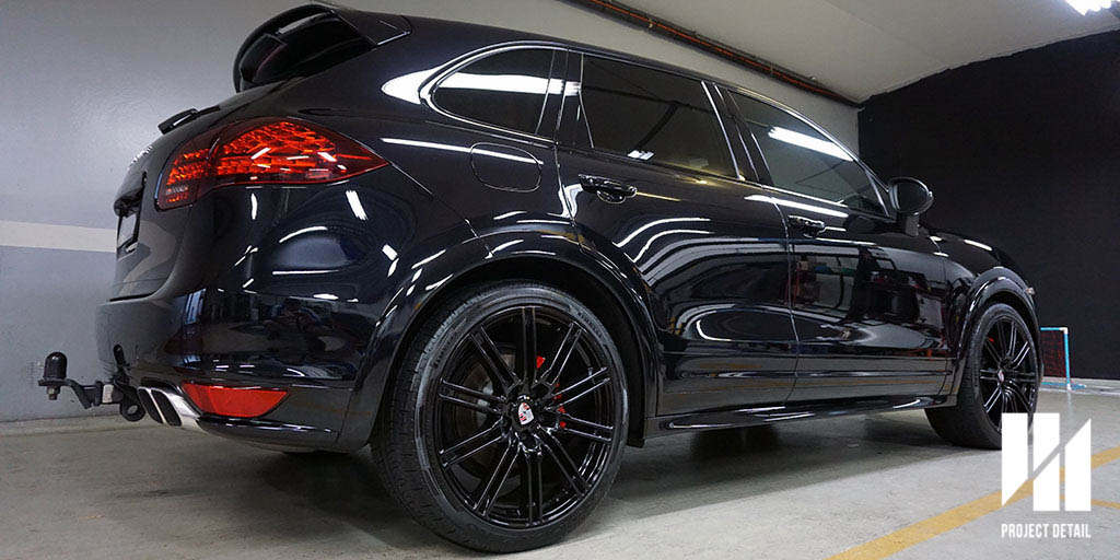 Porsche Cayenne after a Swissvax Full Detail.