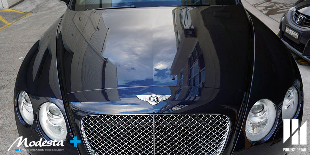 Bentley Continental GT coated with P-01A & BC-05 leaving a deep, liquid looking finish.