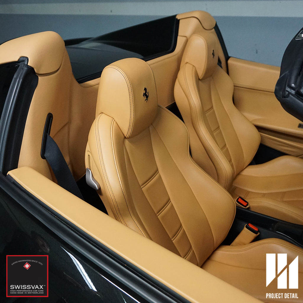 Luxurious Beige leather, cleaned and treated with Swissvax Leather Kit.