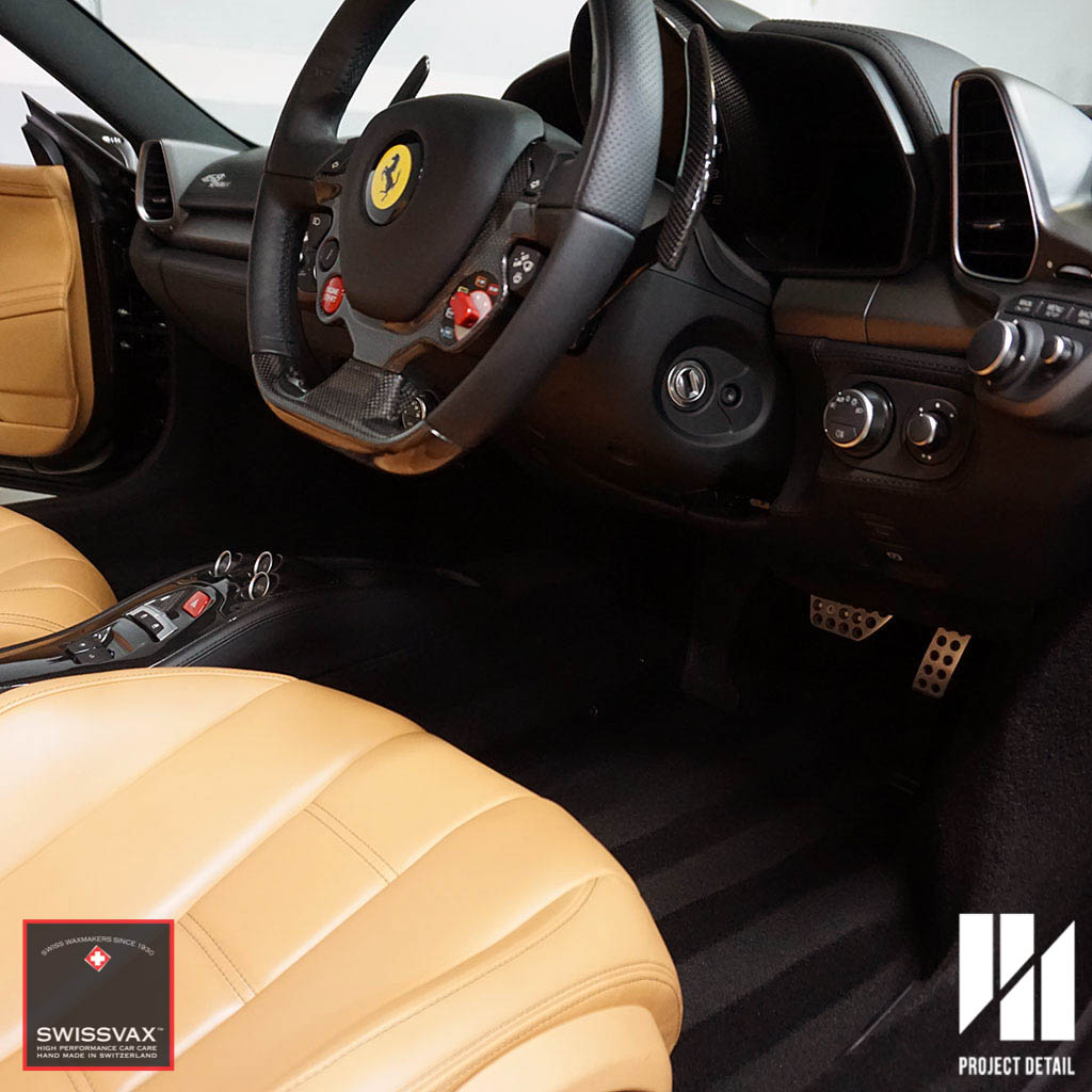 The interior of the 458 is both luxurious and extremely sport orientated.