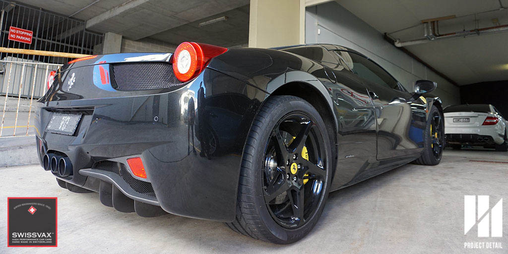 The Ferrari 458 Spider arrives at Project Detail Gladesville, Sydney.
