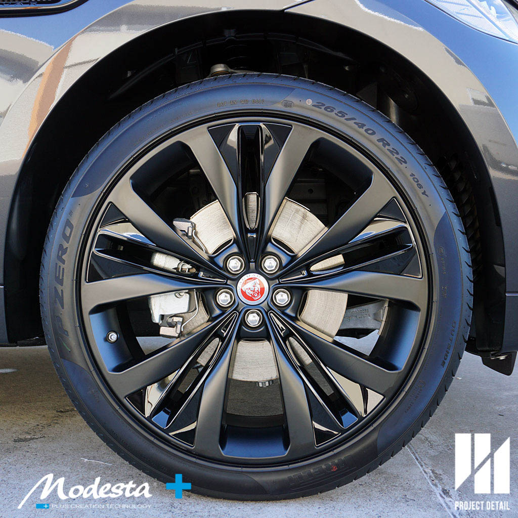 Gorgeous Wheels, treated and cured with Modesta BC-06 Heat Resistant Coating.