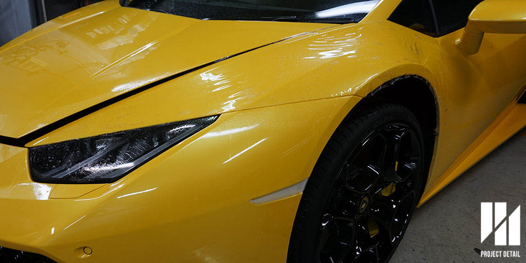 2016 Lamborghini Huracan fully wrapped in XPEL Ultimate PPF. This car had no bulk fitment and the entire vehicle was wrapped in a pre-designed template which had excellent fitment.