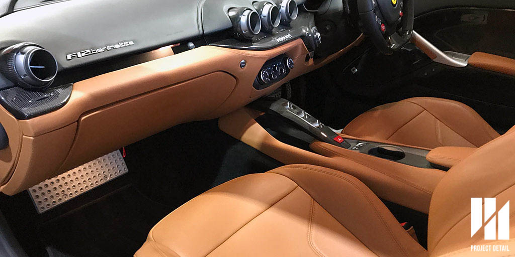 Ferrari's are considered works of art, and there interior are no different. Covered with Poltona Frau Nappa Leather of the highest degree, the two tone of beige and black looks classy and contrasts the harsh nature of the F12.