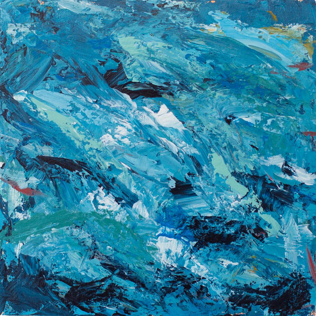 "Life and Living (detail) 2015 8"" x 8"" Acrylic on wood panel"