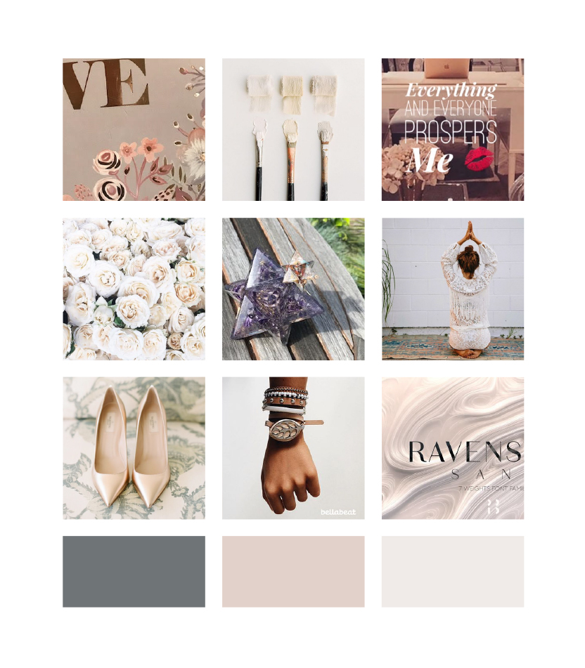 Moodboard and inspiration for Randina Marie's Power of a Woman: Creating Your Life by Design · Alexa B. Creative & Design