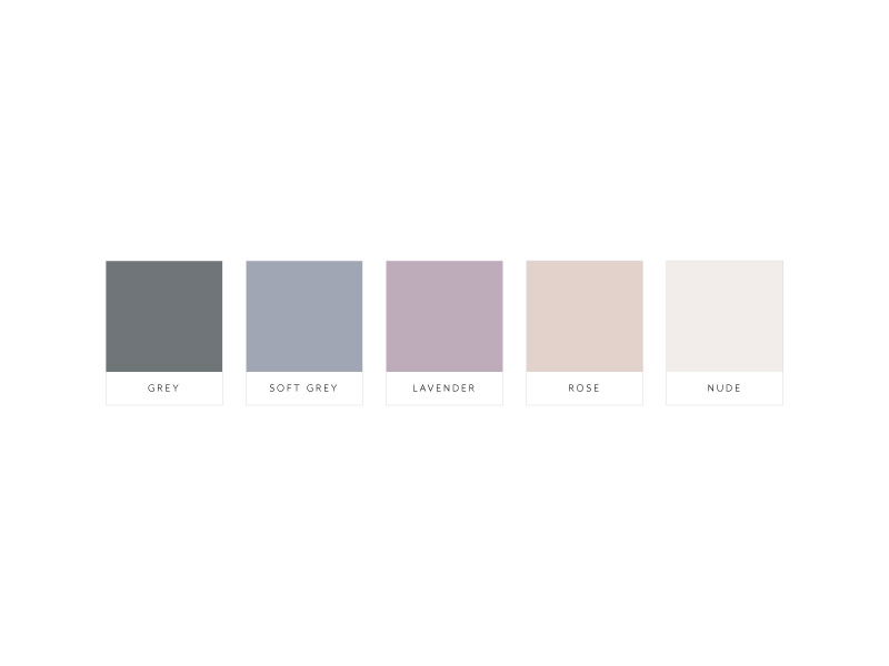 Color palette for Randina Marie's Power of a Woman: Creating Your Life by Design · Alexa B. Creative & Design