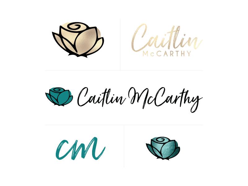 Edgy, sophisticated, feminine brand identity for coach Caitlin McCarthy