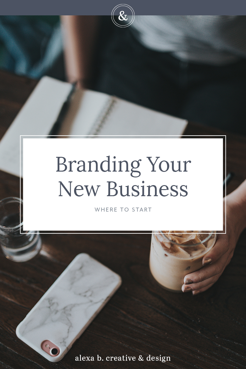 Branding Your New Business: Where to Start from Alexa B. Creative & Design | Starting a new business can be overwhelming to say the least. There are plenty of decisions to make and it might not seem clear what to prioritize, especially when it comes to branding.