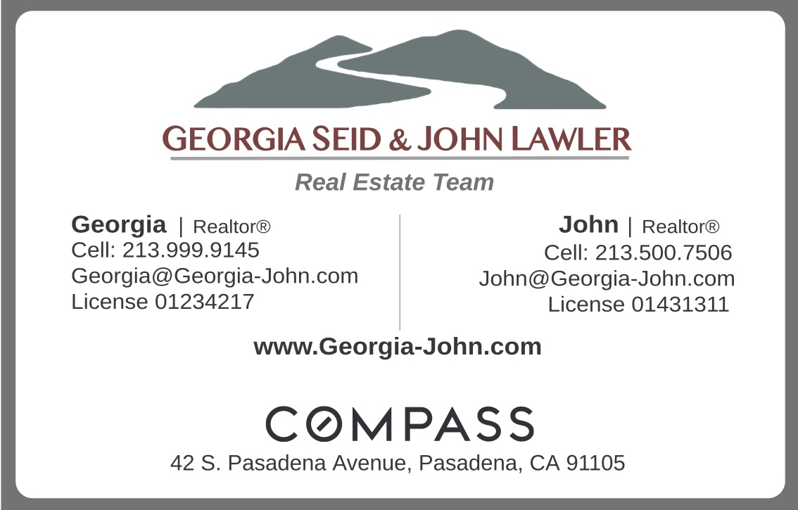 Georgia Seid & John Lawler   https://georgia-john.com/   Our aim is not to be the biggest real estate team in Los Angeles. It's simply to be the best. When you choose us, you can rely on receiving careful counseling, skillful representation, and the utmost respect. We have high standards of integrity and personal service, and we're backed by our entire team and staff. Every member of our team is dedicated to giving you a hassle-free experience and a rewarding outcome.
