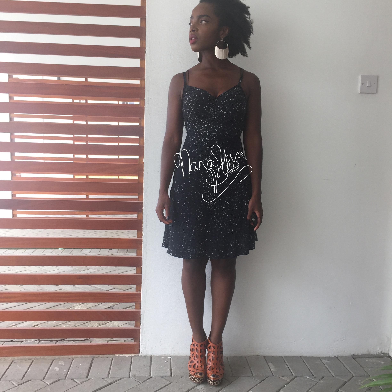 Osei Duro Dress  ,  Awa earrings ,  Mosaique Shoes