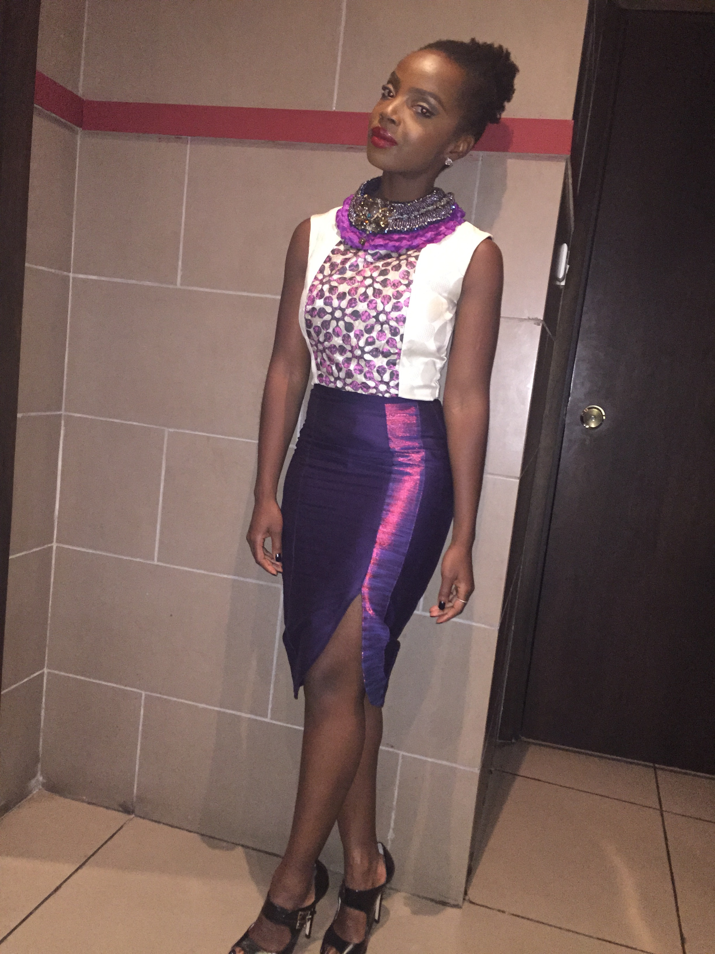 Necklace  Anita Quansah  Shirt  MySisterMadeIt   Skirt  Ameyo  Shoes  Mo Saique