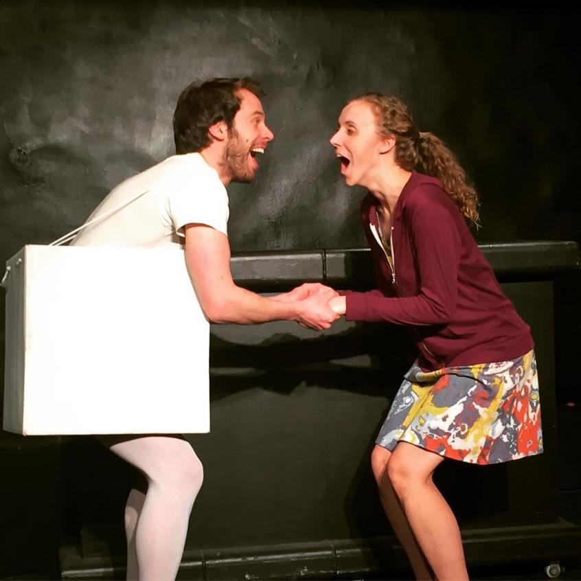 - Ryan Kay (left) and Kathleen Jones (right) as Sugar and Fiona