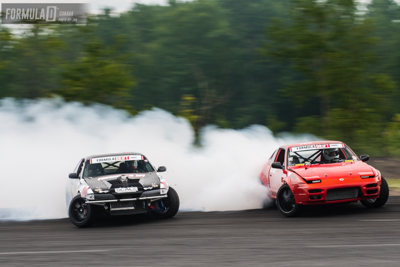 This time it was a great battle between both drivers..