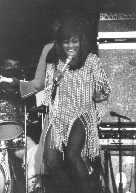 STL Native Tina Turner at the Mississippi River Festival, 1971. Photo by Lyle Ward via St. Louis Post Dispatch