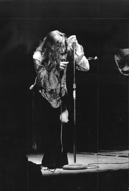 Blues/rock singer Janis Joplin was the psychedelic era's foremost female vocalist. She was one of the star attractions at SIUE's Mississippi River Festival in 1969. via St. Louis Post Dispatch