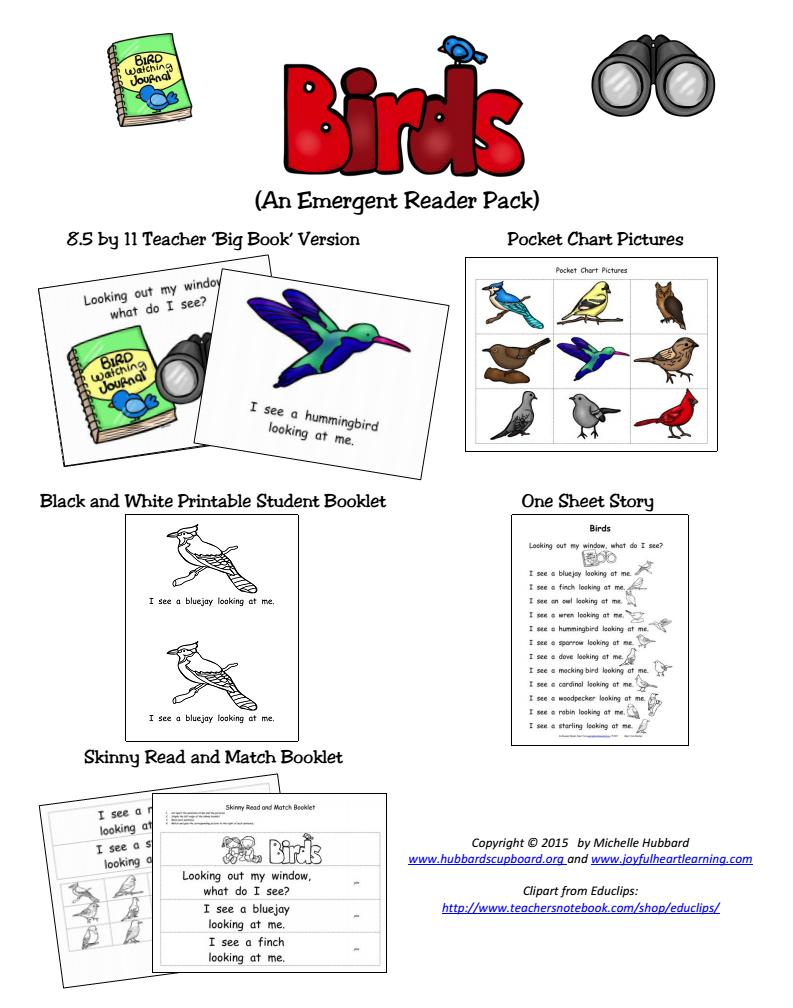 Birds Emergent Reader Packet