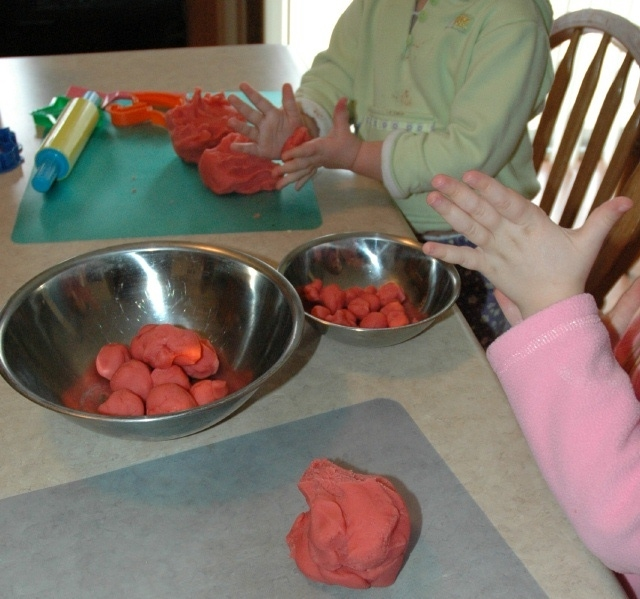 Sorting Playdough Balls